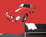 Red Passion Wall Decal Autocollant mural
