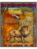 Lion I Poster von Chris Vest