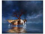 Floating Rock Affiches par Richard Desmarais