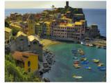 Vernazza Terra Harbour Posters par Richard Desmarais