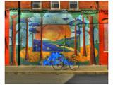 Wall Painting with Bike Plakater av Richard Desmarais