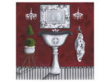 French Tub Red II Posters af Cathy Hartgraves