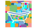 Colorful Bath III Art by  Yashna