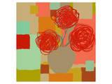 Vase of Red Flowers II Affiche par  Yashna
