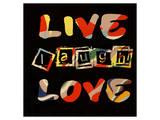 Live Laugh Love II Posters por Irena Orlov