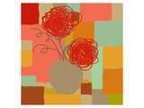 Vase of Red Flowers I Affiches par  Yashna