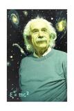 Einstein's Theory of Relativity Revolutionized Astronomy Giclée-tryk af Jean-Leon Huens