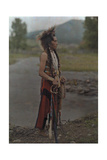 A Portrait of an American Indian Giclee Print by Franklin Price Knott