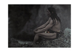 An American Indian Poses for a Portrait Giclee Print by Franklin Price Knott