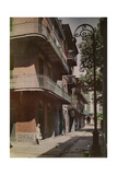 A View of Galleries in the French Quarter Photographic Print by Edwin L. Wisherd