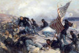 Black Union Volunteers Attack a Rebel Stronghold in Charleston Giclée-tryk af Tom Lovell