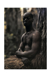 A Portrait of a Man of the Zulu Tribe Photographic Print by Franklin Price Knott