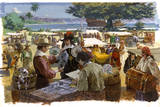 A Painting Depicts Spanish Traders in Acapulco, Mexico Giclee Print by Robert Mcginnis