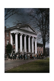 A Crowd Walks Though the University of Mississippi Campus Photographic Print by J. Baylor Roberts
