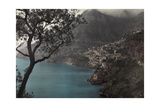 A View of a Small Town Tucked into the Mountain Near Amalfi Photographic Print by Hans Hildenbrand