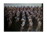In Longhua Temple, Numerous Buddhist Statues Stand in Rows Photographic Print by Franklin Price Knott