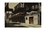 A View of a Street in the French Quarter Reproduction photographique par Edwin L. Wisherd