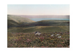 A View of the Valleys, Hills, and the Sea of Galilee Photographic Print by Hans Hildenbrand