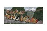 A Victorious Inca Emperor and His Army March Home to Cuzco Reproduction procédé giclée par Ned M. Seidler