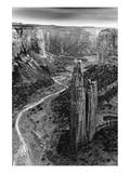 Aerial View of Chelly Canyon, Arizona Poster