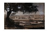 A View of Jerusalem from the Mount of Olives Fotografisk tryk af Hans Hildenbrand