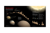 Exoplanets Plotted by Mass and Distance from Earth Giclée-tryk af Sean Mcnaughton