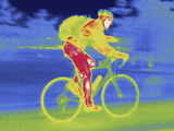 A Thermal Image of Bicycle Rider Reproduction photographique par Tyrone Turner