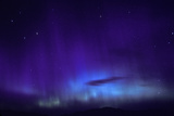 A Blue and Purple Aurora Borealis Photographic Print by Tom Murphy