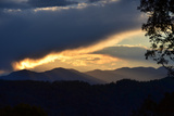 Sunset over the Blue Ridge Mountains Fotografisk tryk af Amy White and Al Petteway
