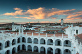 Sunset in Sucre over the Rooftop of the Convent of San Felipe Neri Impressão fotográfica por Alex Saberi