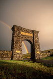 The Roosevelt Arch, Built from Rough Blocks of Columnar Basalt Quarried in Gardiner, Montana Photographic Print by Tom Murphy
