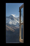Mount Everest Seen Here from Yeti Mountain Home at Kongde Stampa fotografica di Alex Treadway