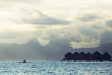 Tahiti Island, with Moorea in the Background Reproduction photographique par Andy Bardon