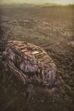 Aerial View of Sigiriya, a 5th Century Rock Fortress, Sri Lanka Photographic Print by David Hiser