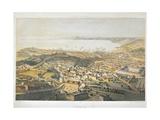 Panoramic View of Trieste Giclée-tryk af Bernardino di Betto Pinturicchio