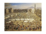 Large Market in Naples, Detail Giclee Print by Angelo Morbelli