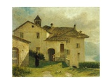 The Church of Santa Maria at Nesso Giclée-tryk af Anne-Louis Girodet de Roussy-Trioson