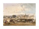 Field of African Hunters in Novara in 1859 Lámina giclée por Carlo Dolci