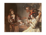 The Card Players, 1657 Giclee Print by Cornelis de Heem