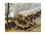 Paraguayan Artillery Giclée-tryk af Candido Lopez