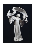 Art Nouveau Statuette of Dancing Female Figure with Scarf, 1900 Giclée-tryk af Agnolo Bronzino