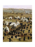 Argentine Camp During War Against Paraguay Giclée-tryk af Candido Lopez