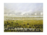 Column of Argentine Forces Led by General Emilio Mitre, Launching Attack in Curupayty Giclée-tryk af Candido Lopez