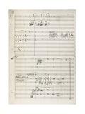 Manuscript Score for King David Giclee Print by Arthur Walker Redgate