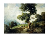 Landscape with Markings Giclee Print by Luigi Rossi