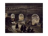 French Reinforcements Heading Towards Verdun Along Voie Sacre, 1916 Giclee Print by Georges Remon