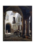 Casa Villa Courtyard, in Ospizi Civici Street, Parma Giclée-tryk af Candido Lopez