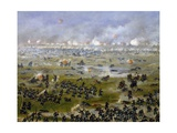 Battle of Curupayty, Argentine Troops Launching Attack on September 22, 1866 Giclée-tryk af Candido Lopez