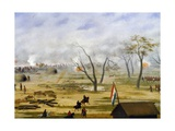 Paraguayan Army Encampment During War with Argentina Giclee Print by Candido Lopez