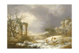 Winter Landscape, C.1750-60 Giclee Print by Georges Remon
